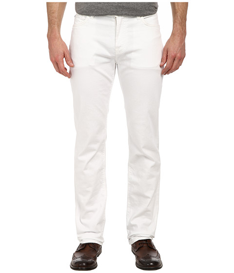 7 For All Mankind - Standard w/ Clean Pocket in White Denim (White Denim) Men