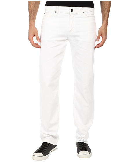 7 For All Mankind - Slimmy w/ Clean Pocket in White Denim (White Denim) Men