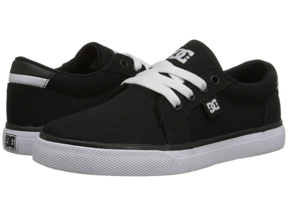 DC Kids - Council TX (Little Kid) (Black/White) Boys Shoes