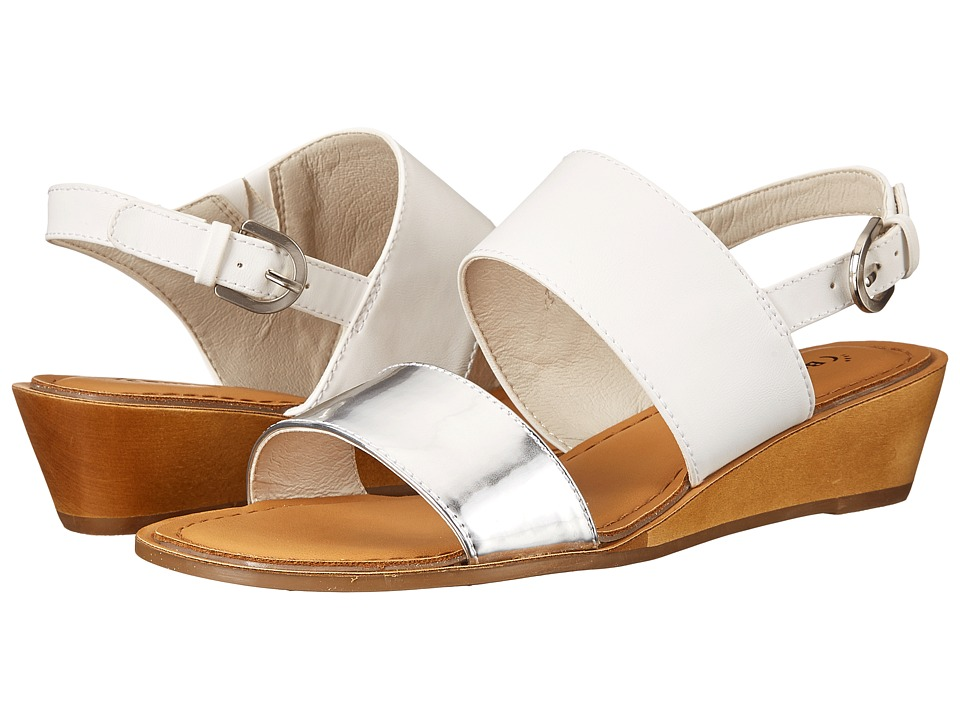 Bare Traps - Brodee (White/Silver) Women's Shoes