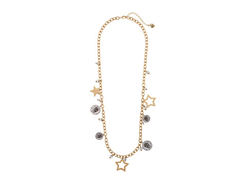 Betsey Johnson - Stargazer Gold Star Strand Necklace (Gold) Necklace