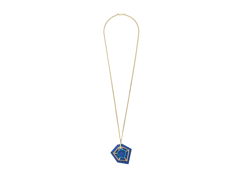 Vince Camuto - Tropical Equinox Pendant Necklace 36 (Gold/Blue) Necklace