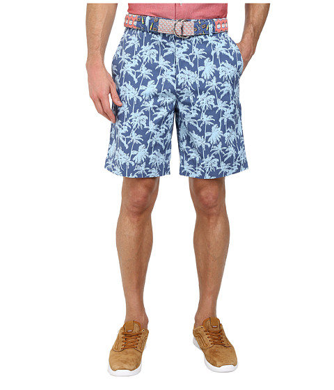 Vineyard Vines - Palm Tree Printed Breake Short (Flag Blue) Men