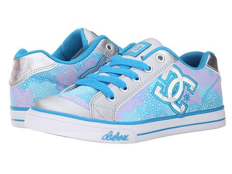 DC Kids - Chelsea TX SE (Little Kid) (Light Grey/Purple) Girls Shoes
