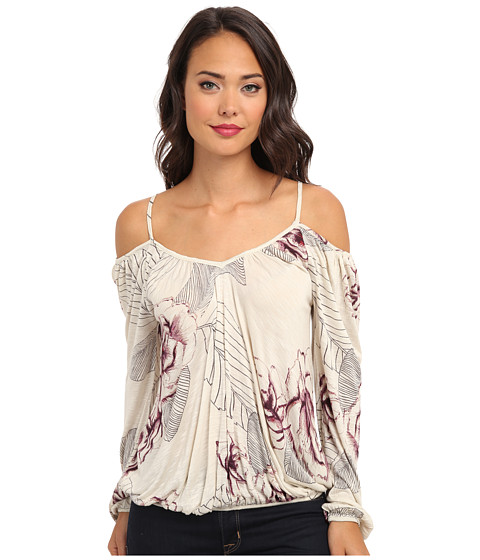 Free People - Printed Adelia Boho Blouse (Tea Combo) Women's Blouse