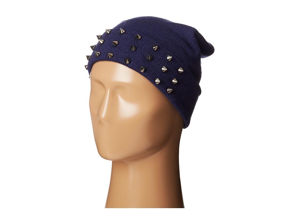 Steve Madden - Spiked Cuff Hat (Navy) Beanies