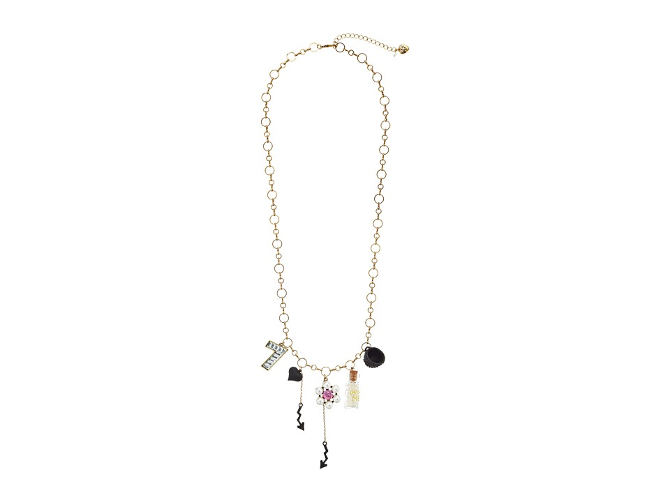 Betsey Johnson - Wonderland Drink Me Pendant Necklace (Multi) Necklace