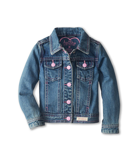 Hatley Kids - Classic Denim Jacket w/ Contrast Stitching (Toddler/Little Kids/Big Kids) (Blue) Girl's Coat