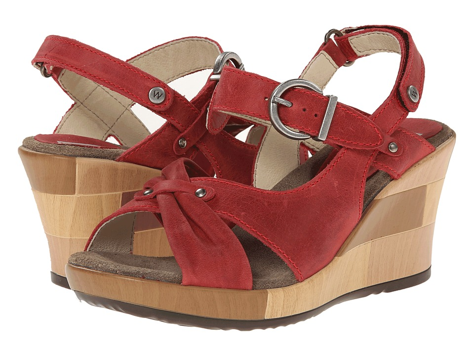 Wolky - Ixia (Red Buffed) Women's Wedge Shoes