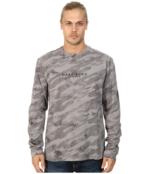 Marc Ecko Cut & Sew - In Plain Sight Camo (Grey) Men's Long Sleeve Pullover