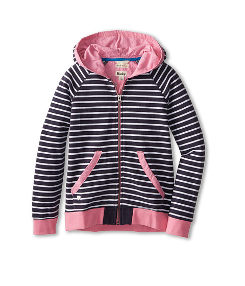 Hatley Kids - Nautical Stripes Hoodie (Toddler/Little Kids/Big Kids) (Blue) Girl