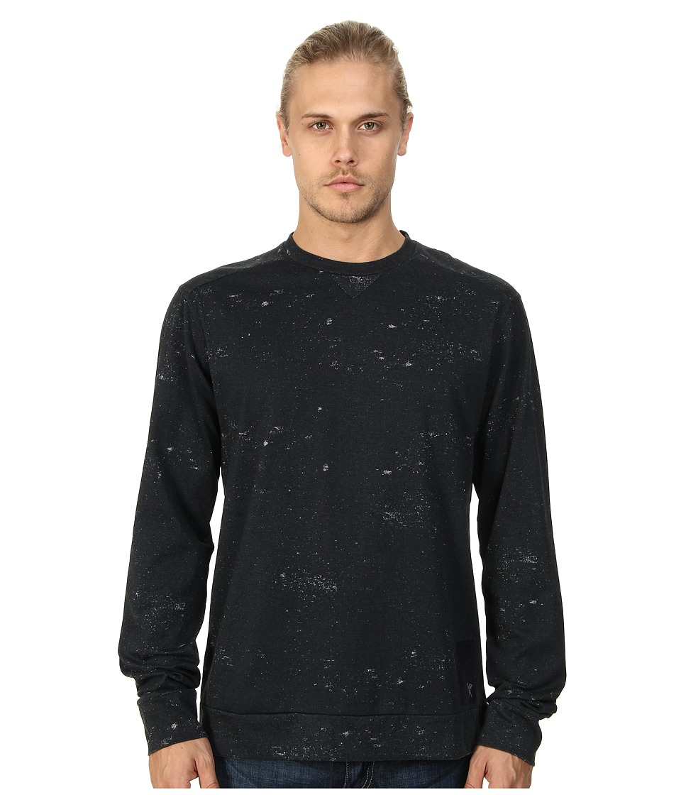 Marc Ecko Cut & Sew - Distressed Print L/S Crew (Phantom) Men's Sweatshirt