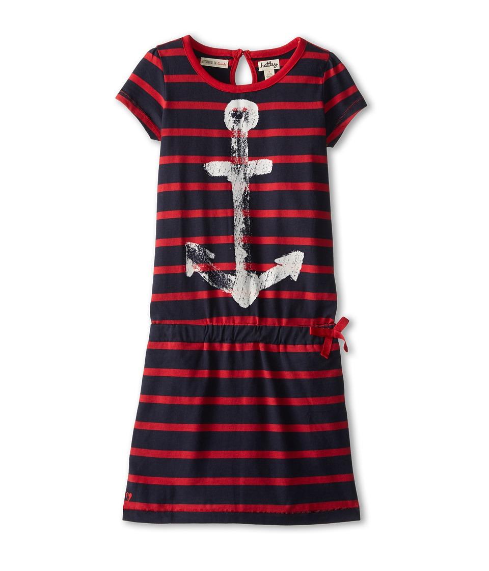 Hatley Kids - Nautical Red Stripes Drop Waist Dress (Toddler/Little Kids/Big Kids) (Blue) Girl's Dress