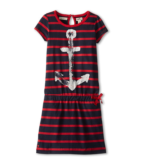 Hatley Kids - Nautical Red Stripes Drop Waist Dress (Toddler/Little Kids/Big Kids) (Blue) Girl's Dress
