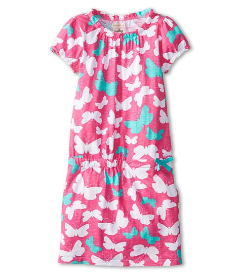 Hatley Kids - Graphic Butterflies Drop Waist Dress (Toddler/Little Kids/Big Kids) (Pink) Girl