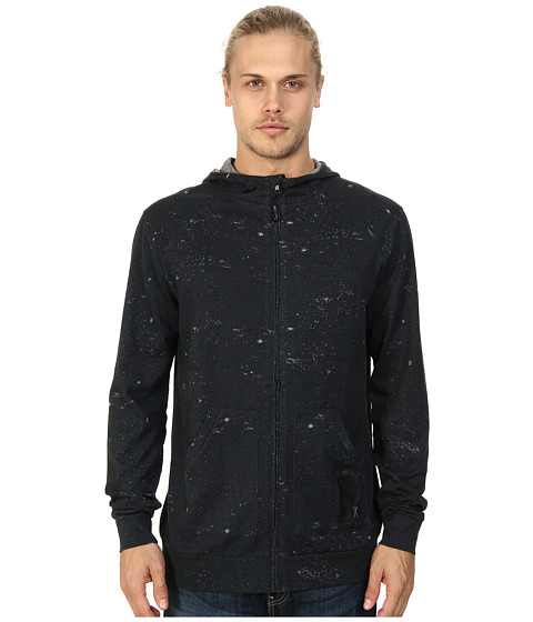 Marc Ecko Cut & Sew - Distressed Print Jaspe Full Zip (Phantom) Men