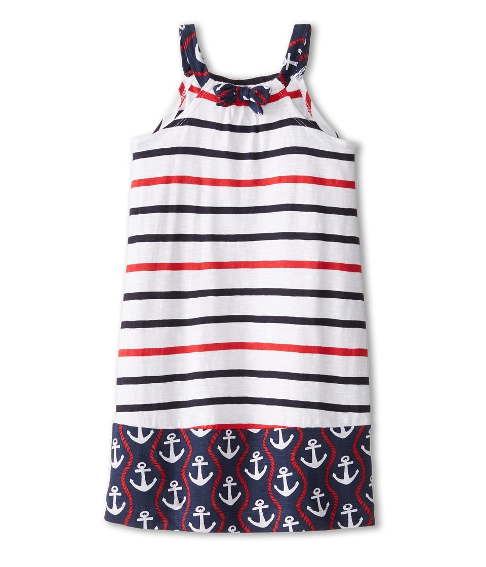 Hatley Kids - Nautical Stripes Shirred Dress (Toddler/Little Kids/Big Kids) (White) Girl's Dress