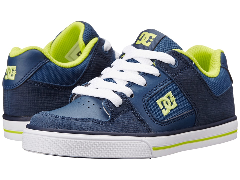 DC Kids - Pure SE (Little Kid) (Navy) Boys Shoes
