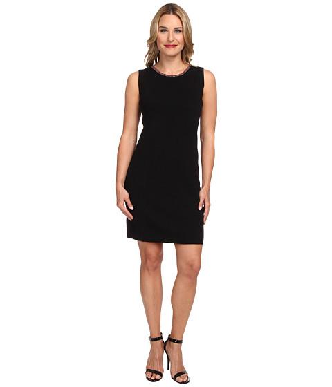 Jones New York - S/S Crew Neck Sweater Dress (Black) Women's Dress
