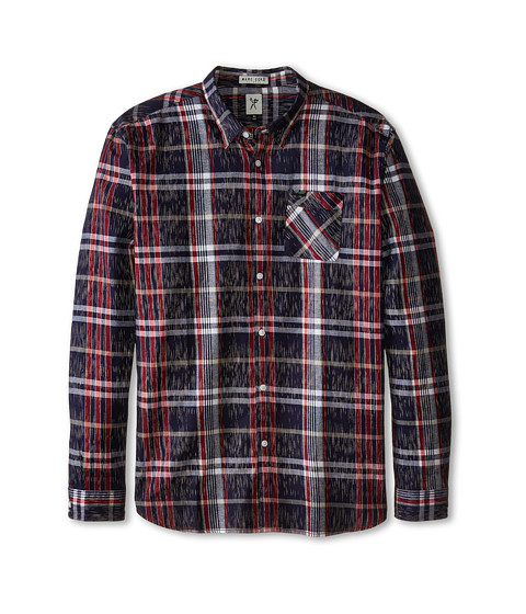 Marc Ecko Cut & Sew - Partition L/S Woven Shirt (Red) Men