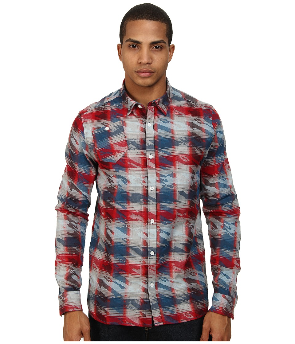 Marc Ecko Cut & Sew - Roebling L/S Woven Shirt (Red) Men's Long Sleeve Button Up