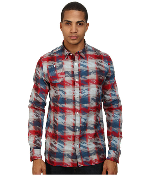 Marc Ecko Cut & Sew - Roebling L/S Woven Shirt (Red) Men