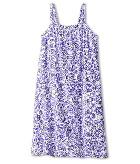 Hatley Kids - Deep Purple Mosaic Shirred Dress (Toddler/Little Kids/Big Kids) (Purple) Girl's Dress