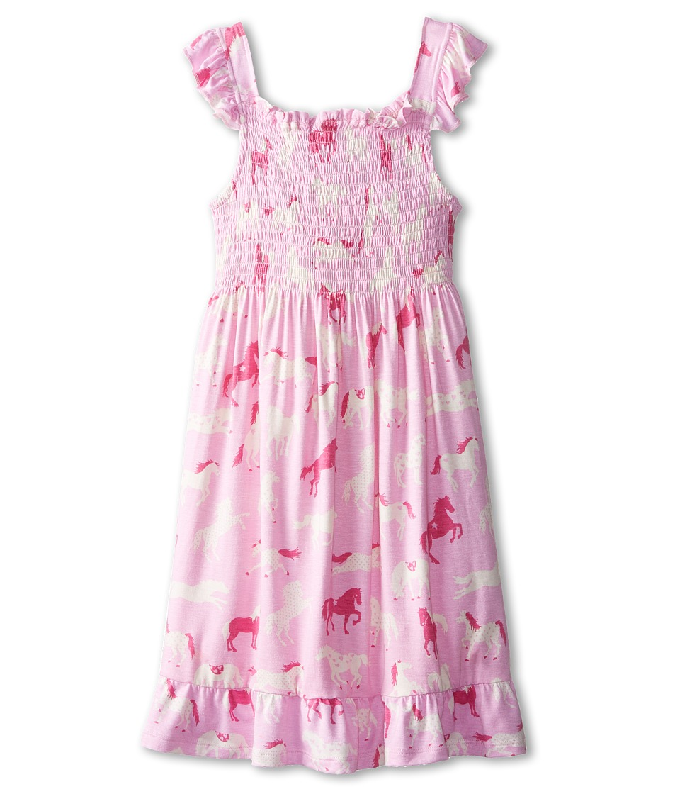 Hatley Kids - Hearts Horses Smocked Dress (Toddler/Little Kids/Big Kids) (Pink) Girl's Dress