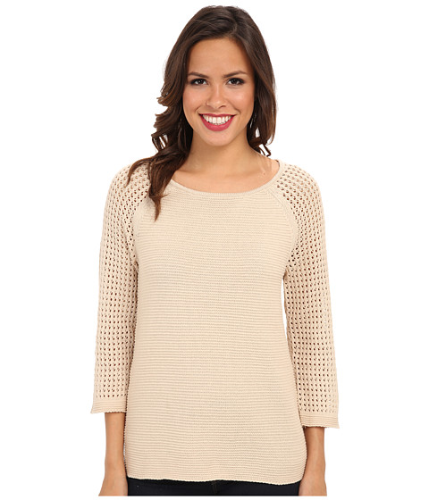 Jones New York - Textured Raglan Sleeve Pullover (Blonde) Women