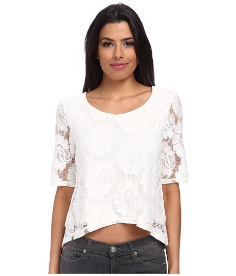 MINKPINK - Perusing Top (White) Women's Short Sleeve Pullover