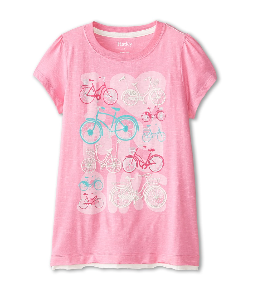 Hatley Kids - Lots of Bikes Graphic Tee (Toddler/Little Kids/Big Kids) (Pink) Girl's T Shirt