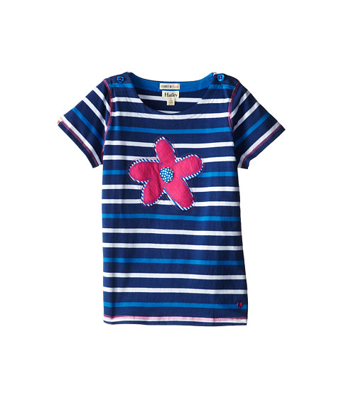 Hatley Kids - Summer Garden Applique Tee (Toddler/Little Kids/Big Kids) (Blue) Girl's T Shirt