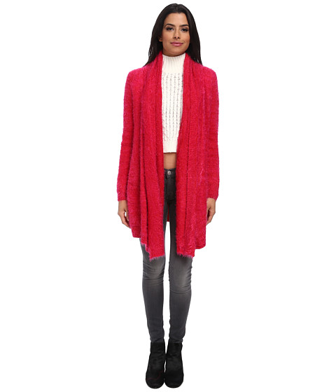 MINKPINK - Snuggle Up Cardigan (Red/Pink) Women's Sweater