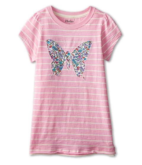Hatley Kids - Pretty Butterfly Graphic Tee (Toddler/Little Kids/Big Kids) (Pink) Girl
