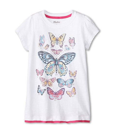 Hatley Kids - Botanical Butterflies Graphic Tee (Toddler/Little Kids/Big Kids) (White) Girl