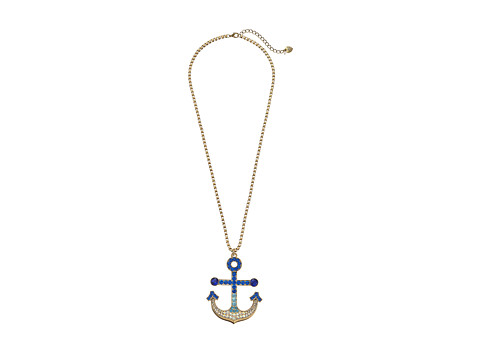 Betsey Johnson - Shipshape Long Anchor Pendant Necklace (Multi) Necklace