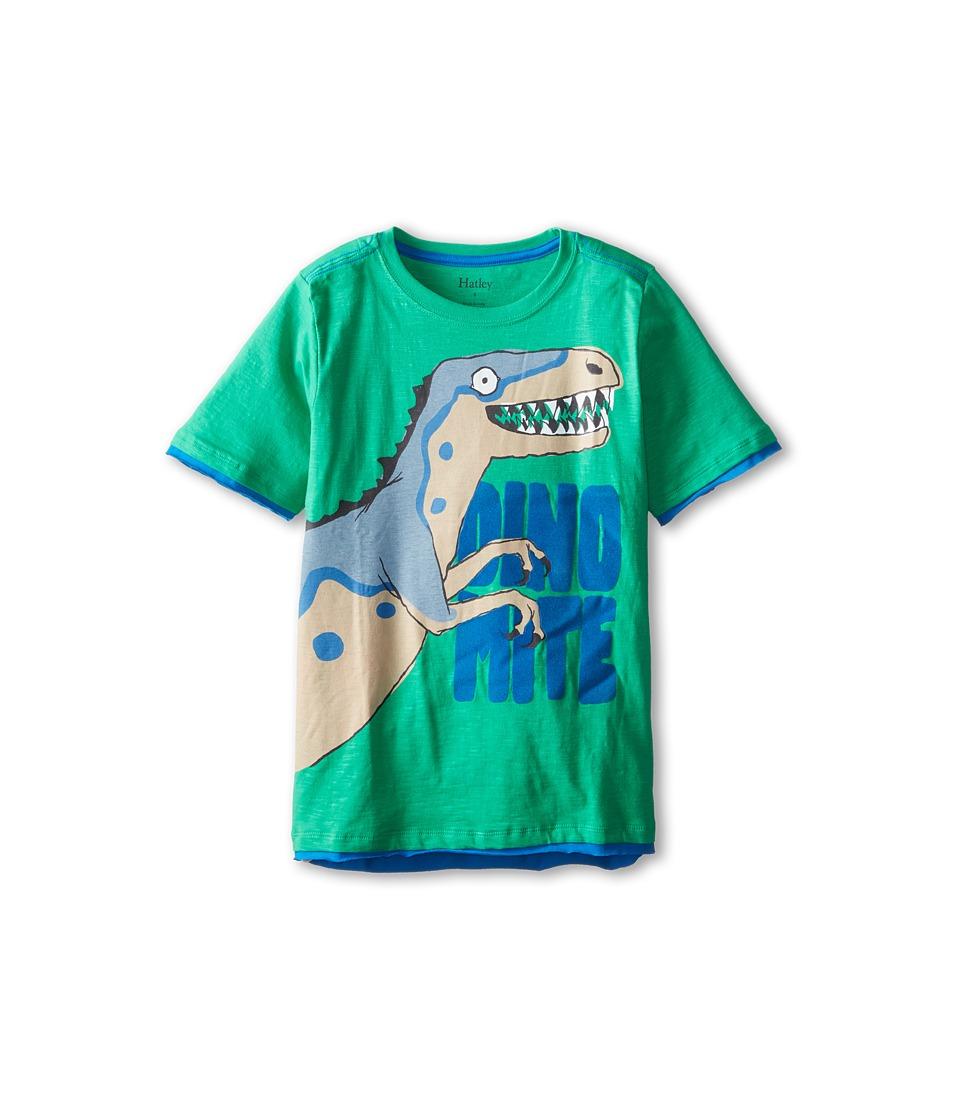Hatley Kids - Dinos Graphic Tee (Toddler/Little Kids/Big Kids) (Green) Boy