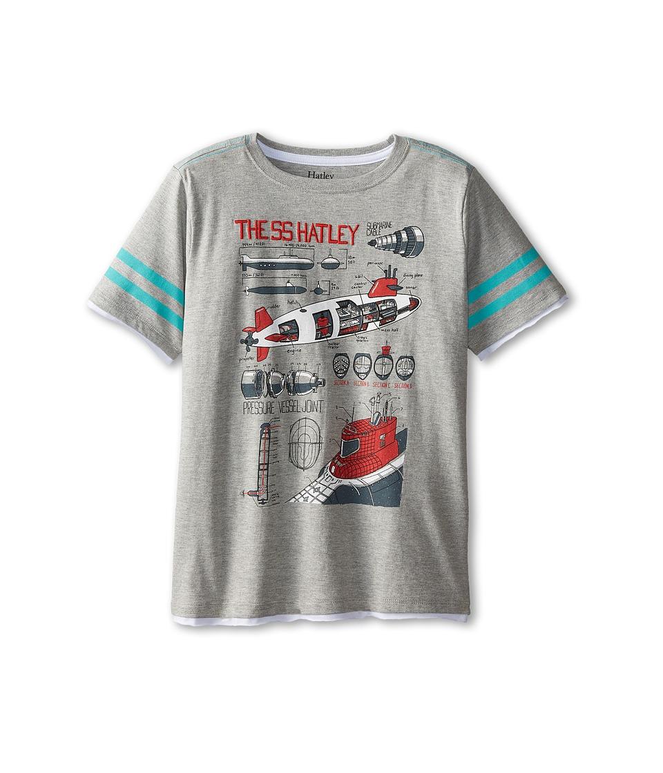 Hatley Kids - Submarines Graphic Tee (Toddler/Little Kids/Big Kids) (Grey) Boy's T Shirt