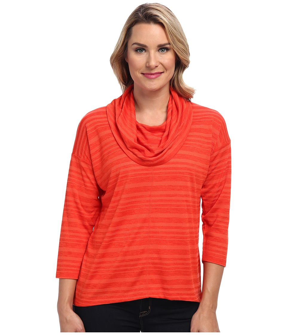 Jones New York - Easy Cowl Neck Pullover (Fire Red) Women's Long Sleeve Pullover