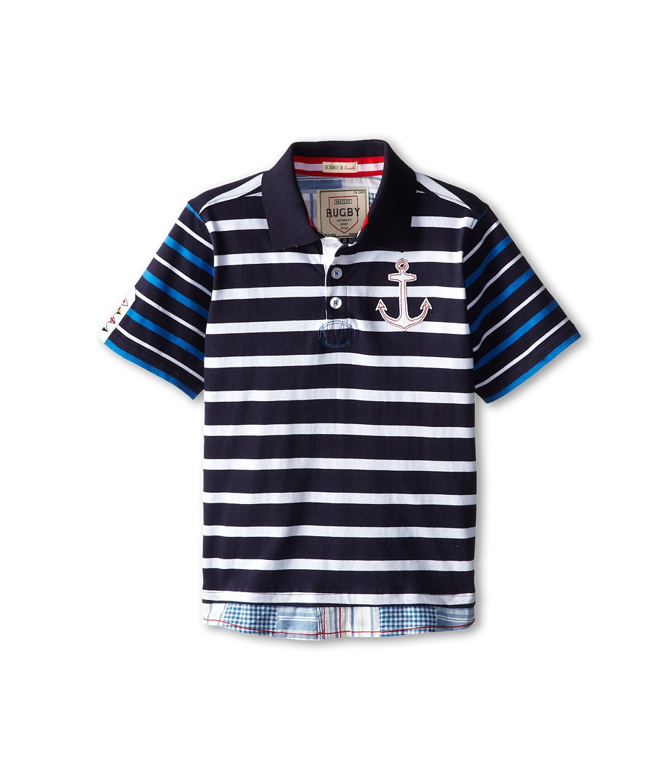 Hatley Kids - Anchor Rugby Shirt (Toddler/Little Kids/Big Kids) (Blue) Boy