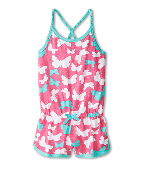 Hatley Kids - Graphic Butterflies Sporty Romper (Toddler/Little Kids/Big Kids) (Pink) Girl's Jumpsuit & Rompers One Piece