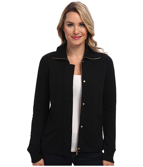 Jones New York - French Terry Mock Neck Jacket (Black) Women