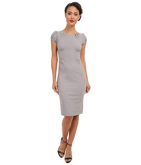 Stop Staring! - Ashley Boat Neck Dress w/ Belt (Grey) Women