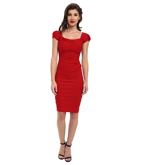 Stop Staring! - Billionaire Elegant Twist Front Dress (Red) Women
