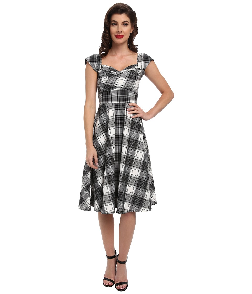 Stop Staring! - Madstyle Classic Swing Skirt Dress (Black/White Plaid) Women's Dress