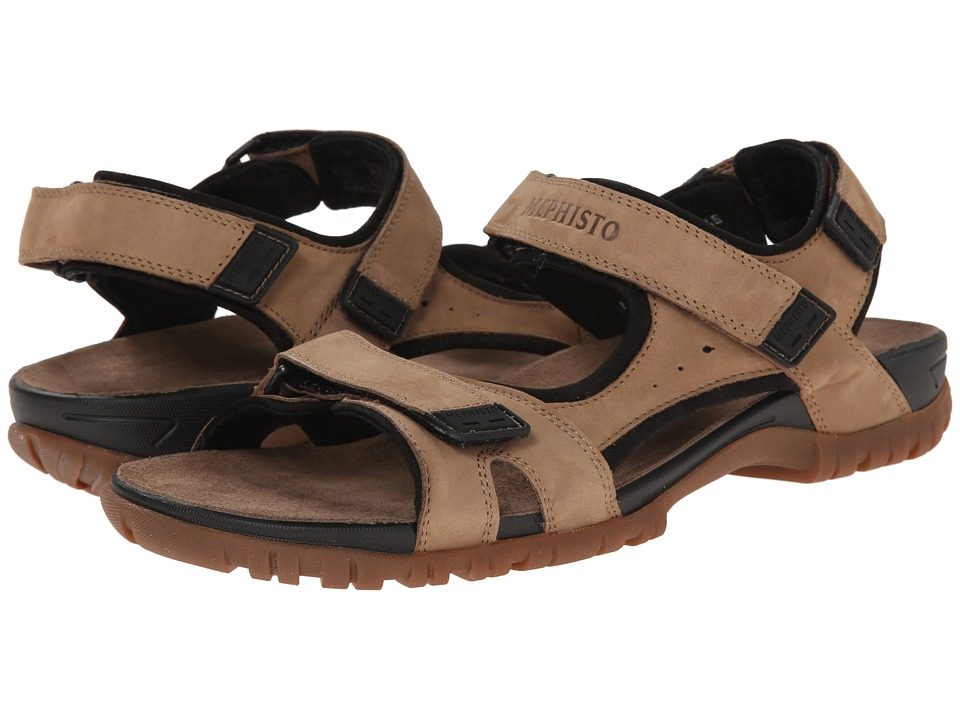 Mephisto - Brice (Camel/Black Bucksoft) Men's Sandals