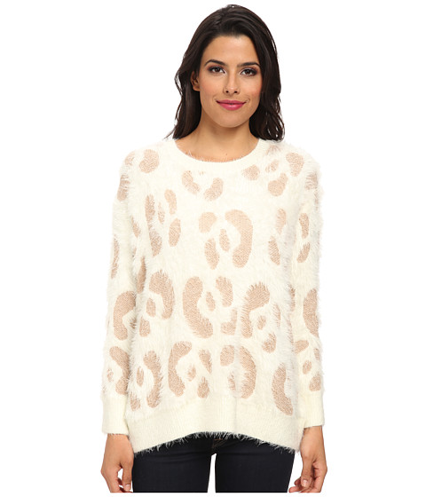 MINKPINK - Nocturnal Jumper (Cream/Rose Gold) Women's Sweater