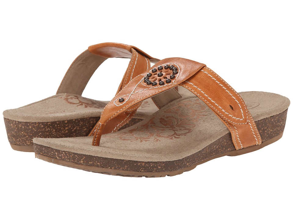 Aetrex - Emily Sandalistas - Lynco Footbed (Burnt Orange) Women's Sandals