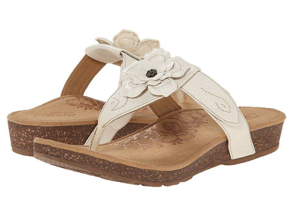 Aetrex - Emily Rose Adjustable Thong (Antique White) Women's Sandals