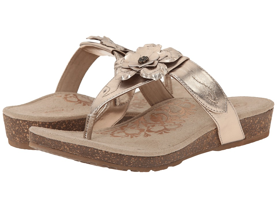 Aetrex - Emily Rose Adjustable Thong (Gold) Women's Sandals